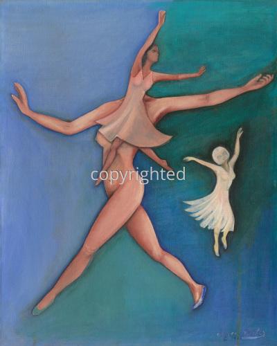 Painting--Acrylic-AllegoricalDancers