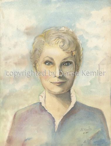 Painting--Watercolor-PortraitSelf-portrait