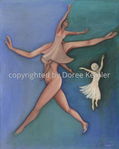 Dancers -acrylic on canvas board