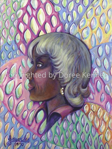 The Bronze Maiden -acrylic on canvas