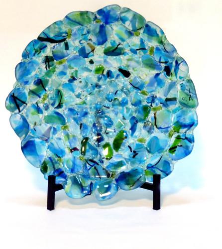 Blue Sea Stones Platter