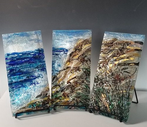 Ocean Surf (triptych)