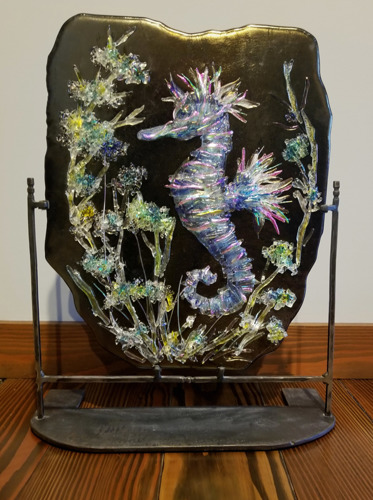 Seahorse on Brozed Glass (daylight view)