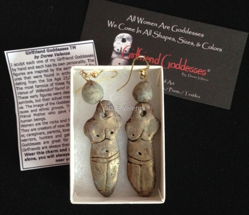 Courage and Strength Girlfriend Goddesses®  Earrings