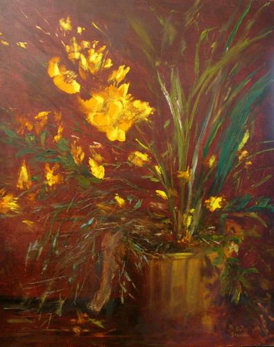 Flower in Copper Pot