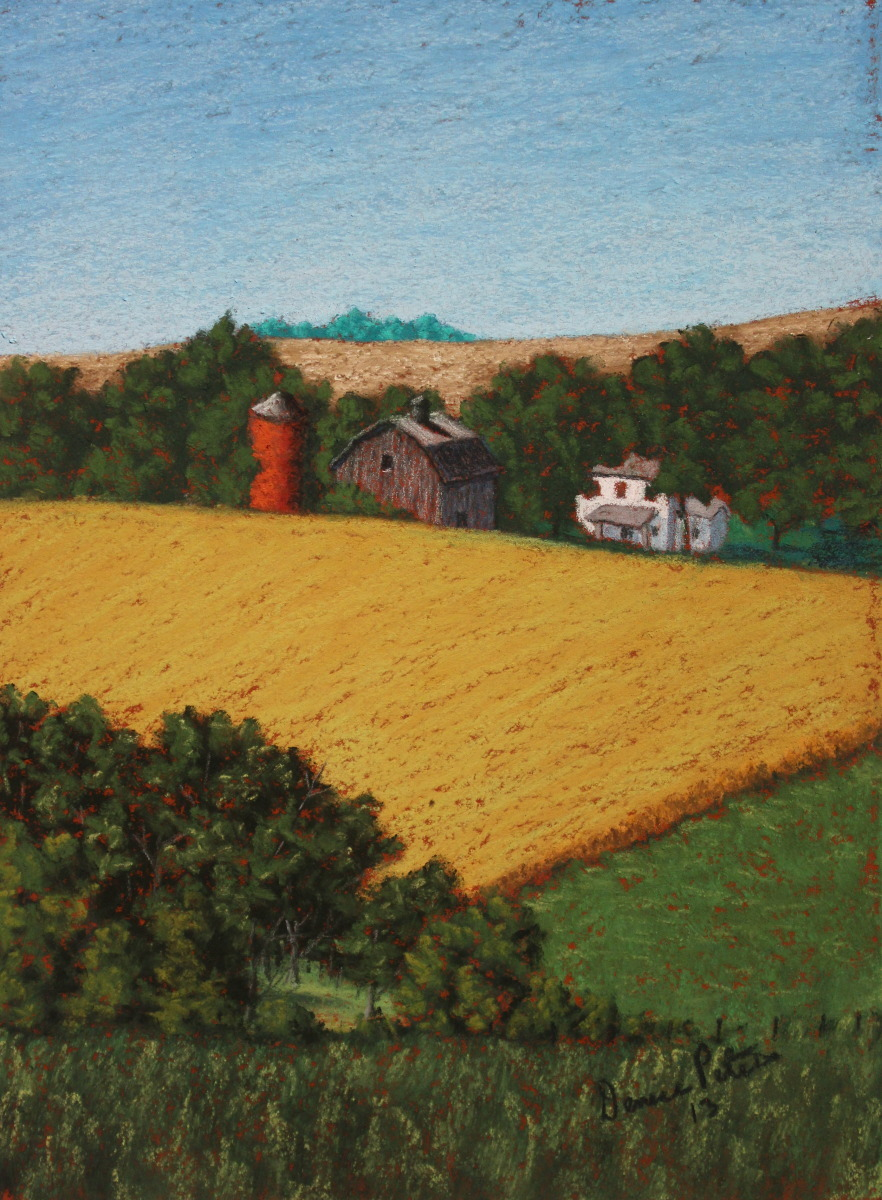 A mini pastel painting of a rural LeMars, IA scene. (large view)