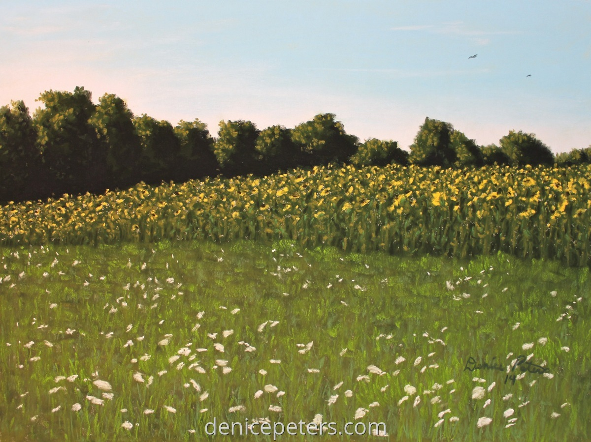 Queen Anne's Lace and Sunflowers (large view)