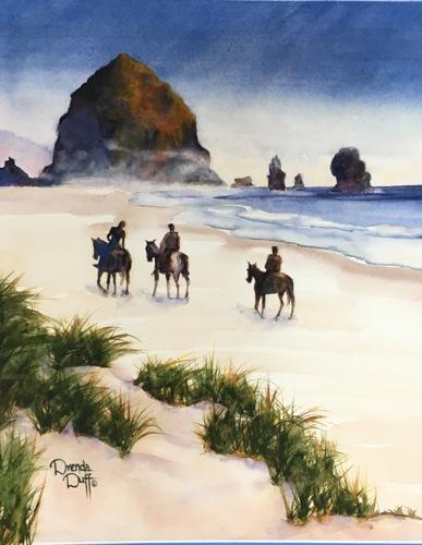 Morning Ride to Haystack