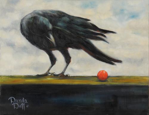 Raven and Tomato by Drenda Duff Fine Art