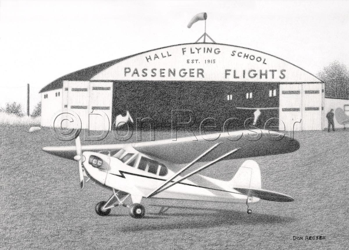 Ernie Hall Flying School,  J-3 Piper Cub (large view)