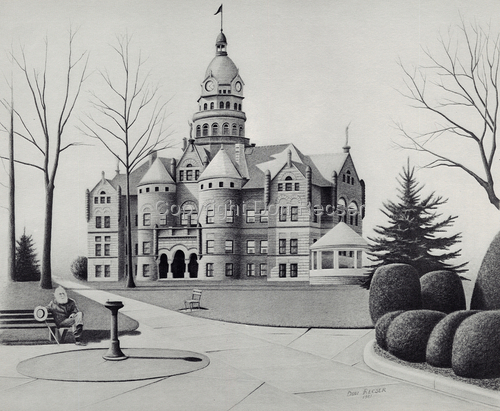 Trumbull County Courthouse by Don Recser