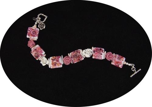 """""""Monet's Roses"""" bracelet"""