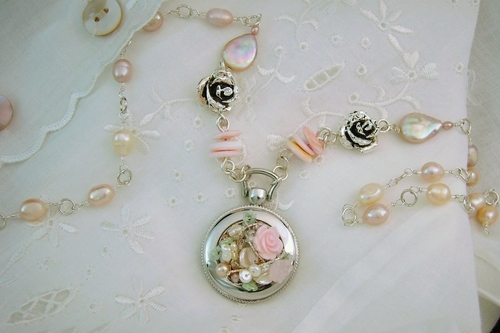 Pink Floralscape Necklace