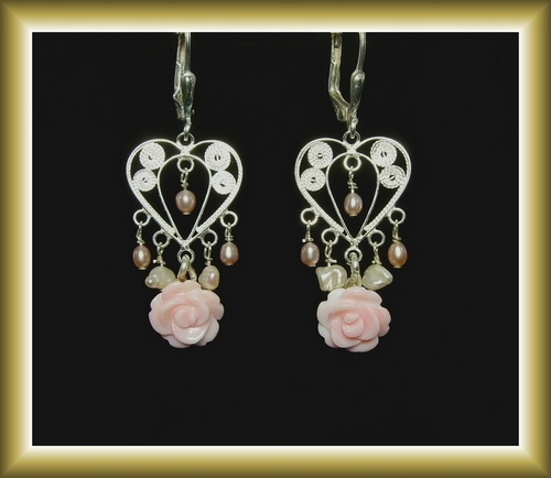 Pink Floralscape Earrings