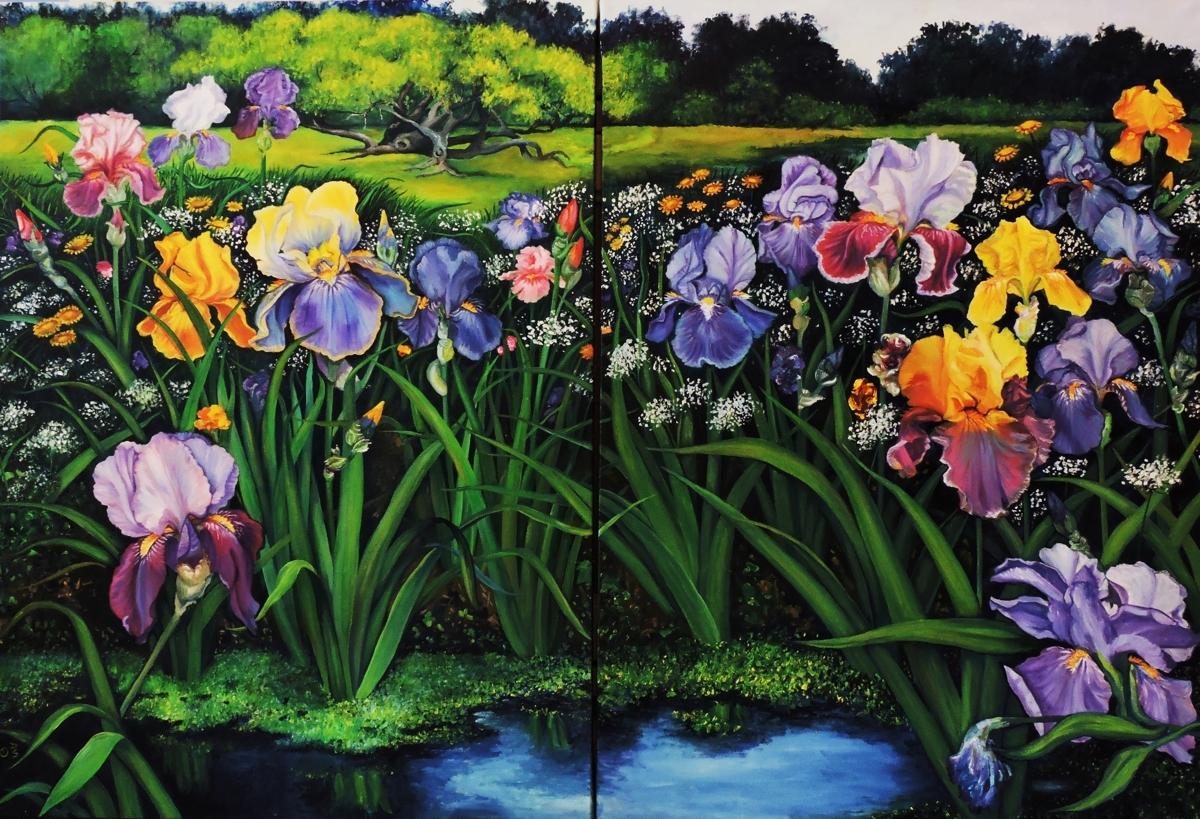 Spring Irises by artist Debra Seney (large view)