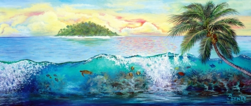 SUNSET ISLAND by DEBRA SENEY-CLOUSTON FINE ART GALLERY