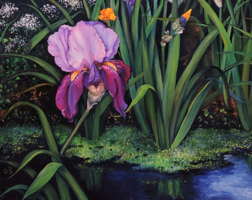 Purple Iris by artist Debra Seney