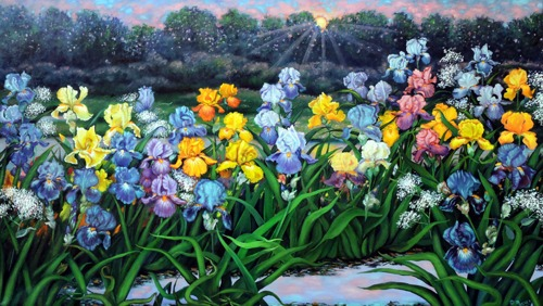 Parading Irises by Debra Seney