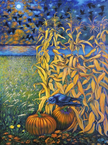The Hauntings of Walnut Creek - original painting