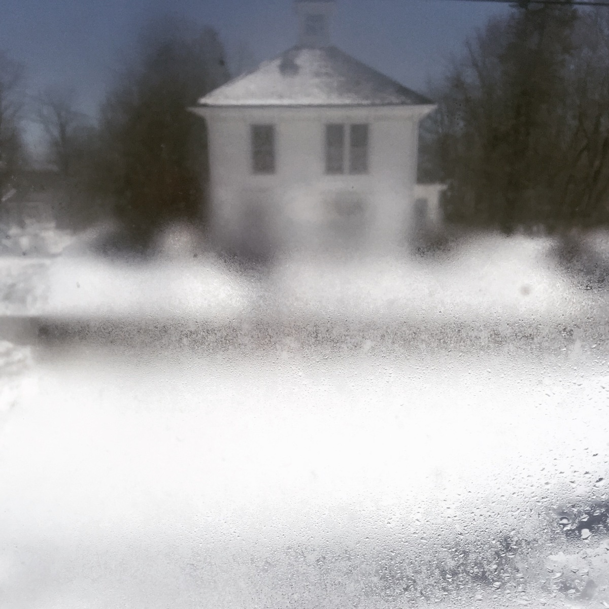 3.22 Midday wet snow white house (large view)