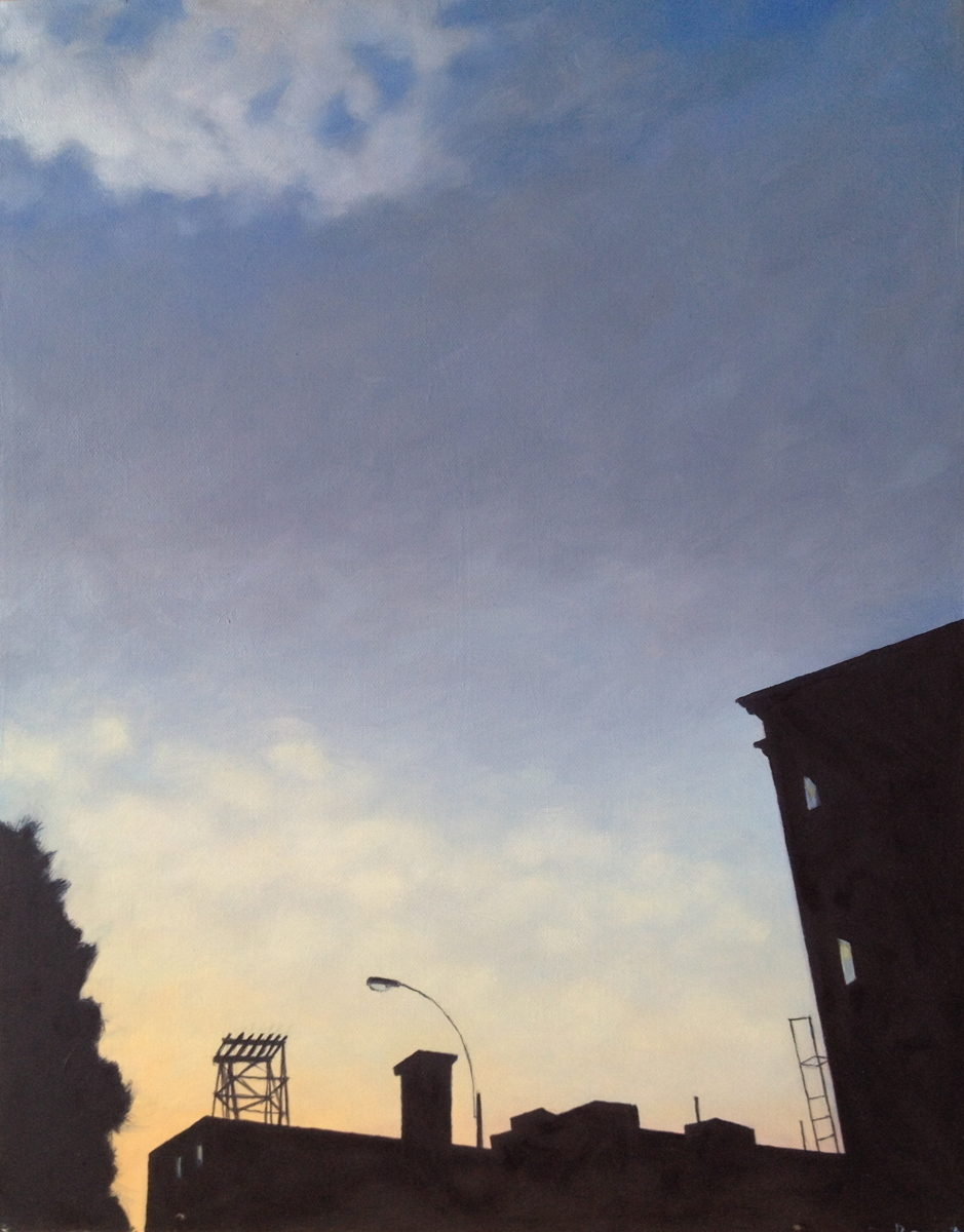 Brooklyn Sundown - oil on canvas (large view)