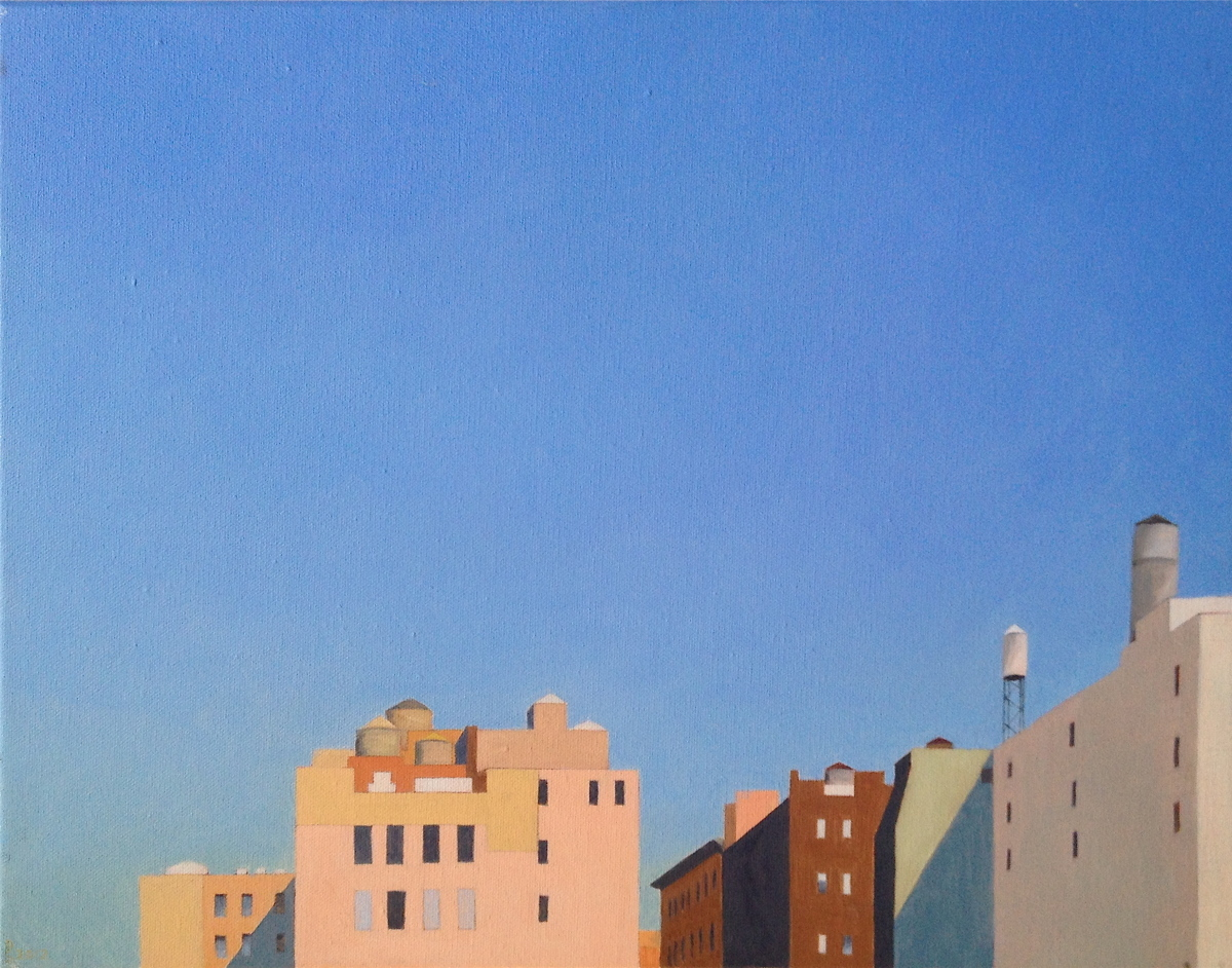 Union Square - oil on canvas (large view)