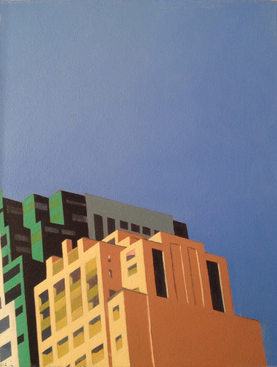 Downtown Brooklyn - oil on canvas (large view)