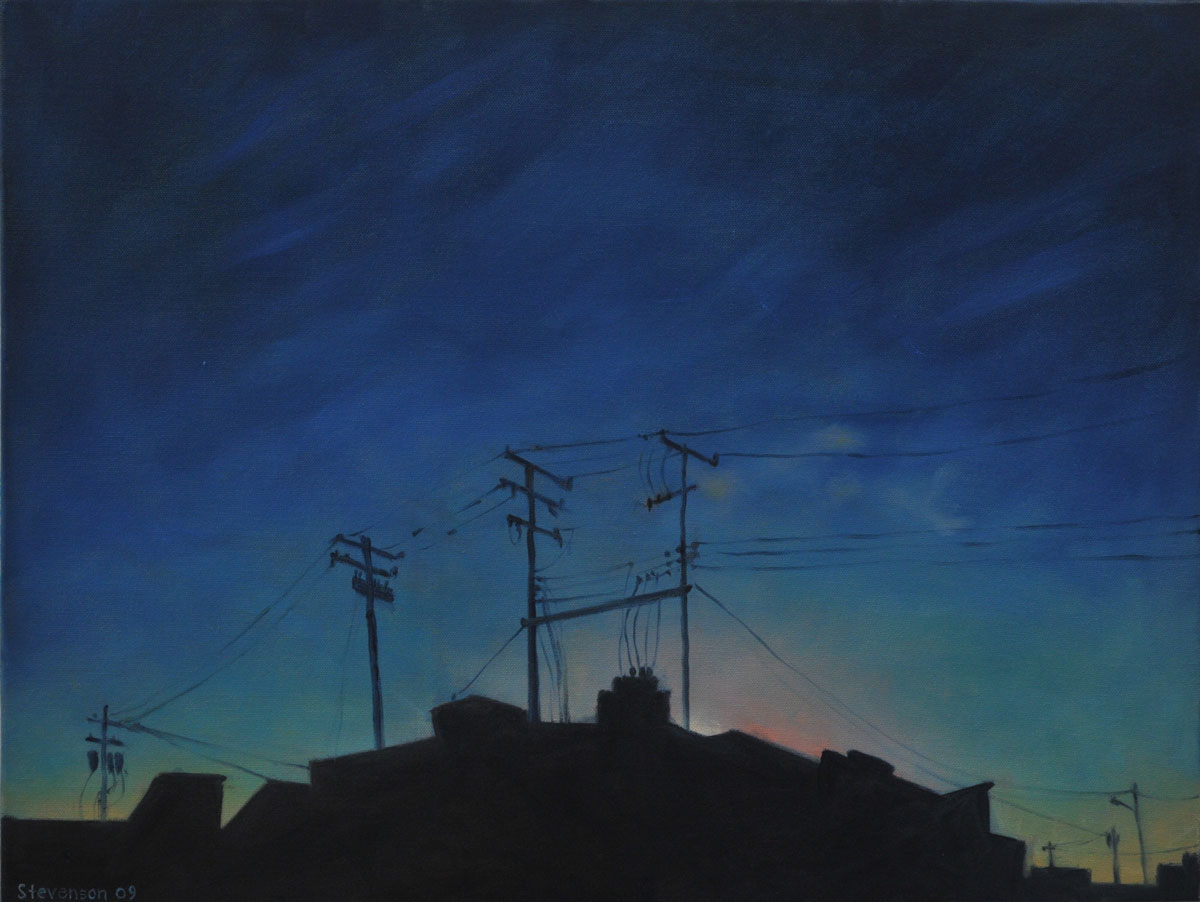Twilight w/Power Poles (large view)