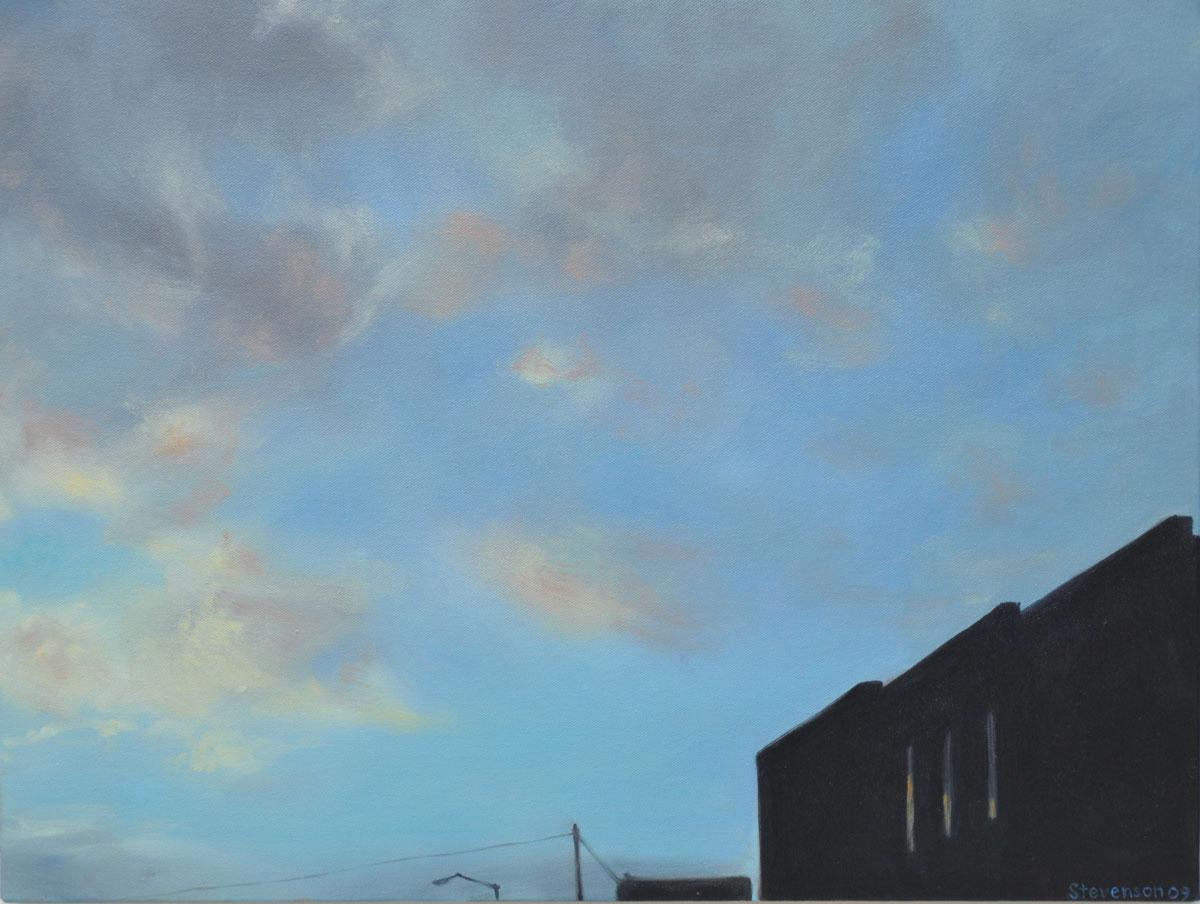 Twilight Fells Point 3 Windows & Sky (large view)