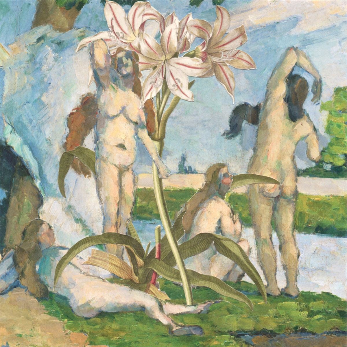 Cezanne's Ladies And Some Lilies (large view)