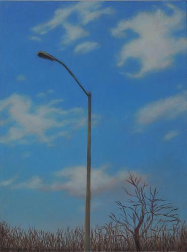Streetlight Sky Bare Trees  (large view)