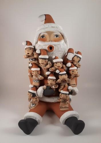 Santa Claus Made By Emily Tsosie by Darrick, Emily(Fragua) and Leonard Tsosie