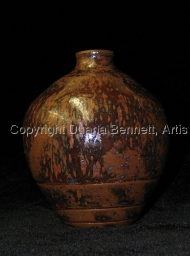 Brown Glazed Bottle