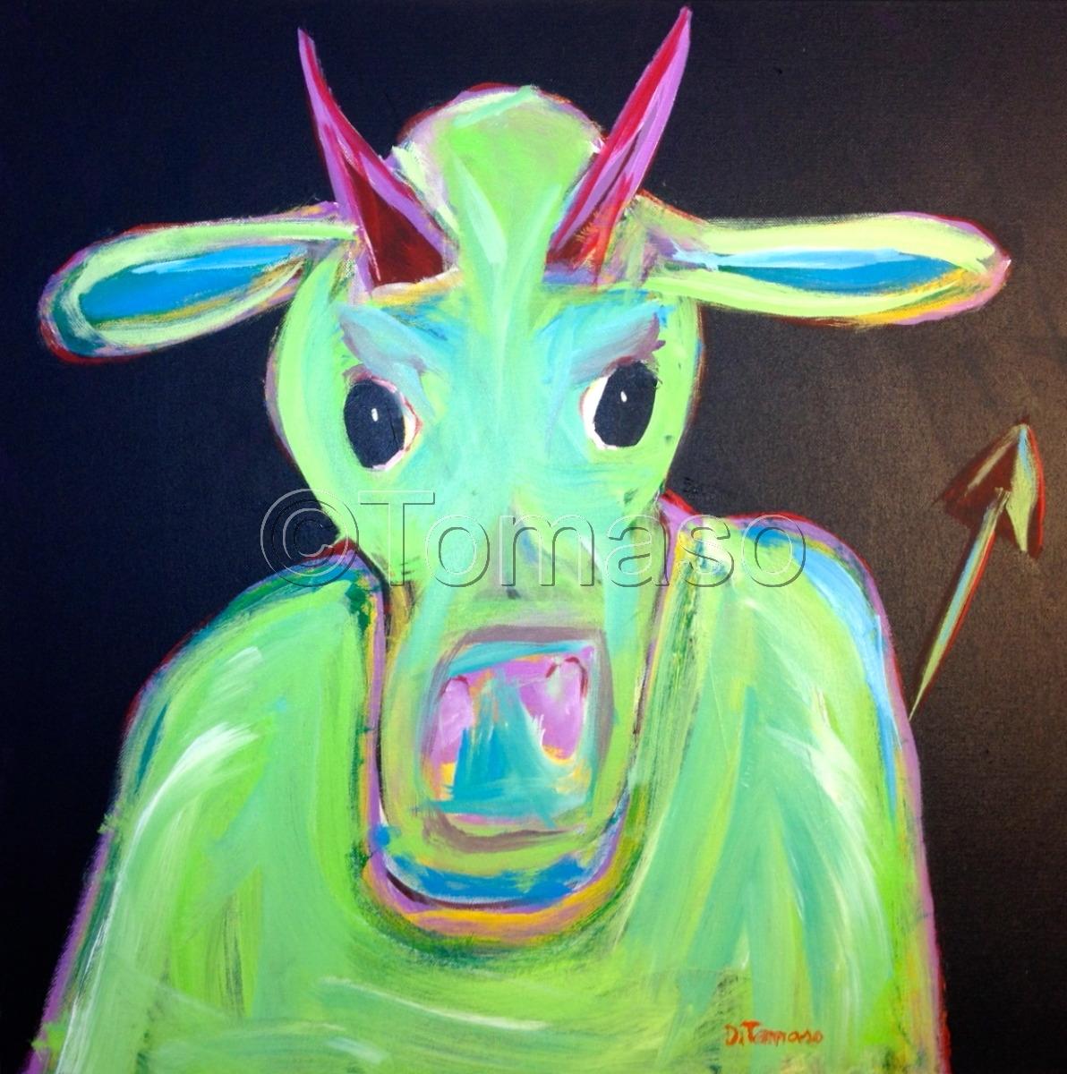 Devil Cow  24x24 (large view)