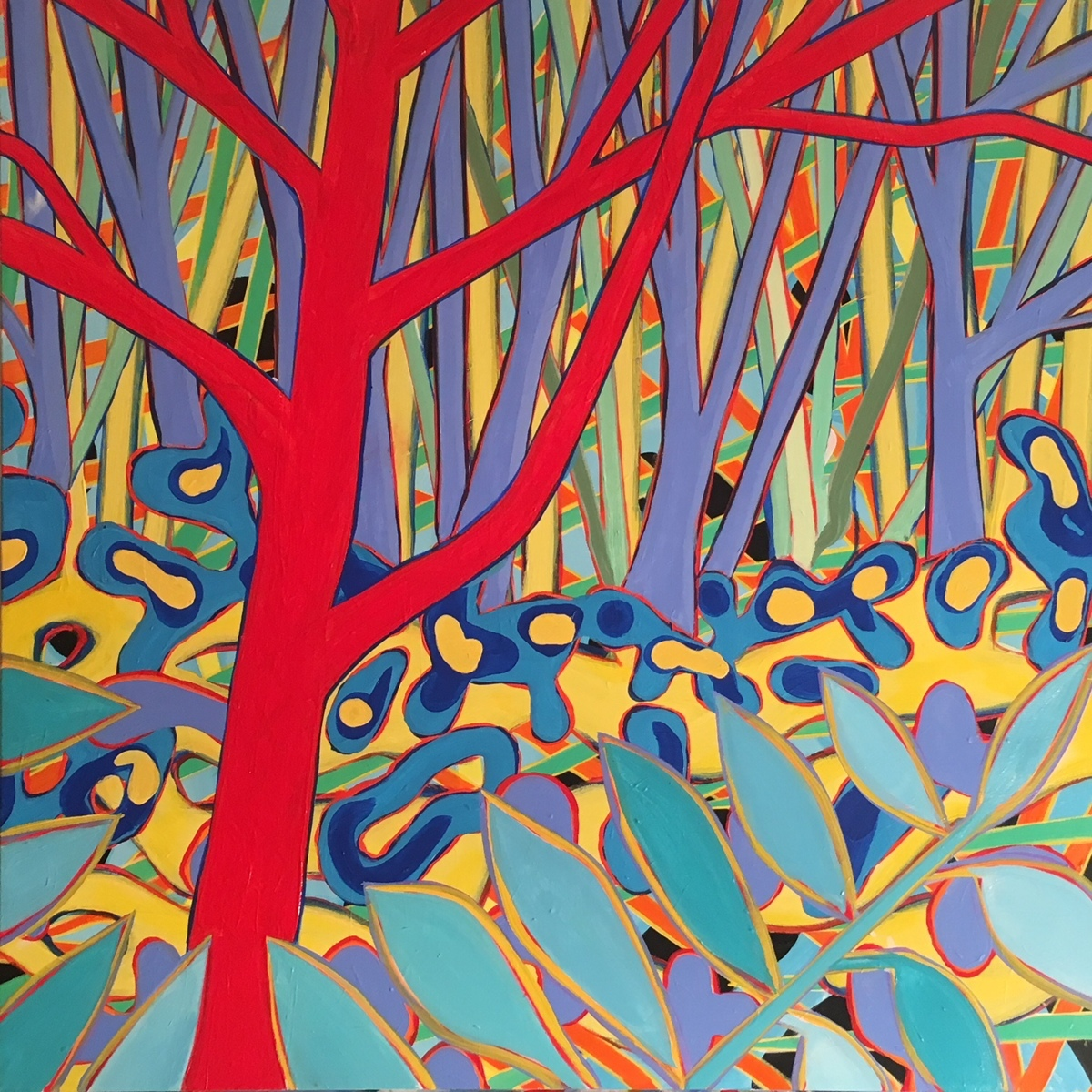 The Red Tree #1  36x36 (large view)