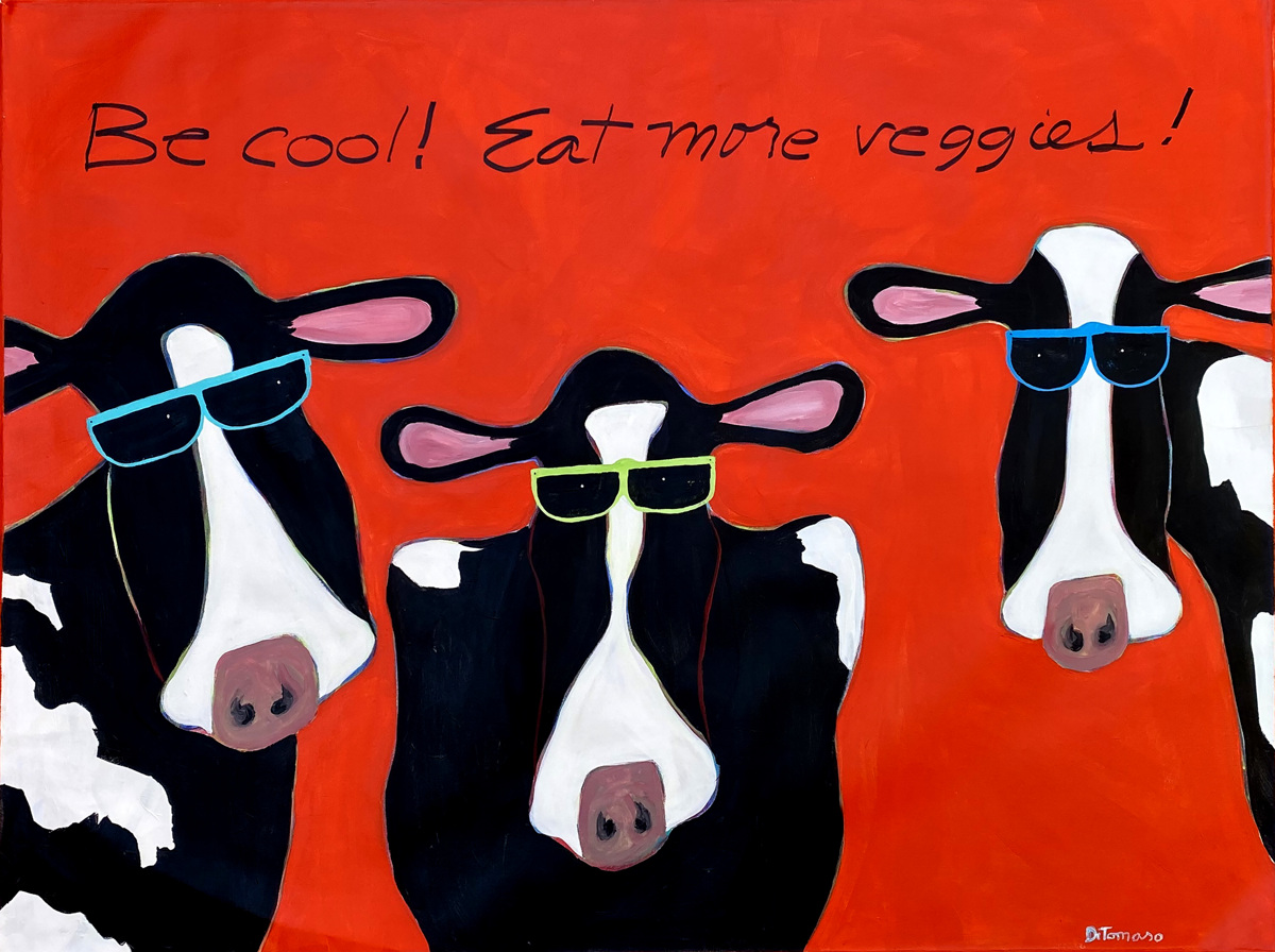 Red Cow Trio 48x36 (large view)