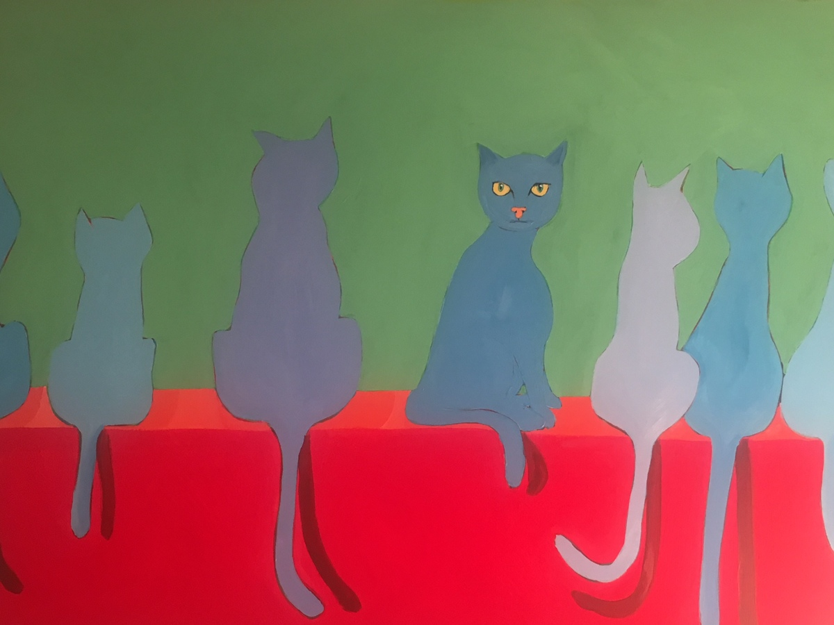 Blue Cat Sees You 48x36 (large view)