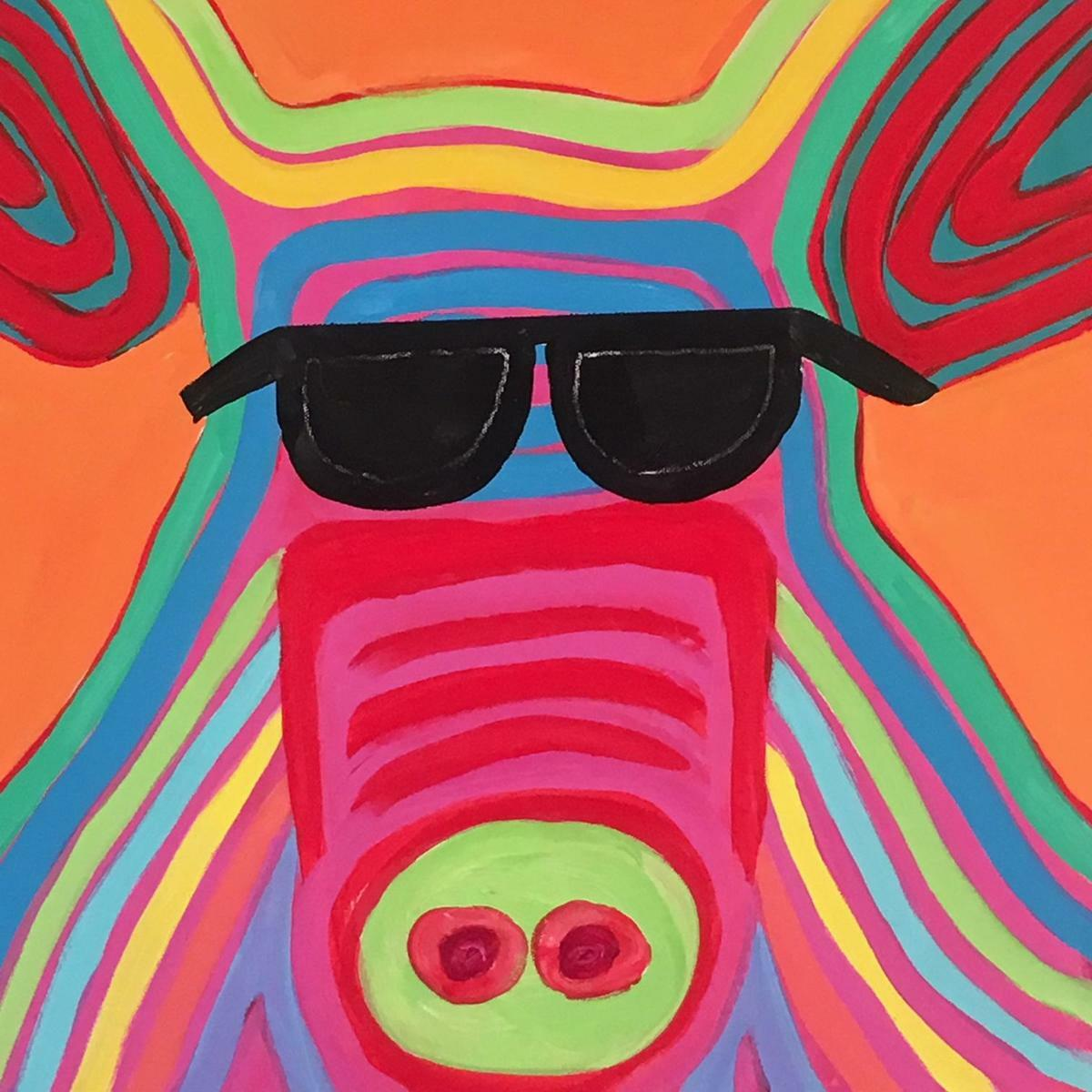 Psychedelic Pig 20x20 (large view)