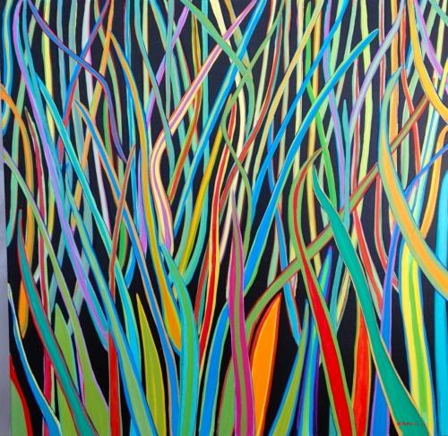 Tropical Vibrations 5  30x30 by Tomaso DiTomaso