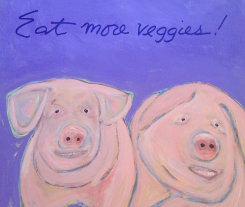 Piggy Nine 36x30 by Tomaso DiTomaso