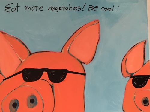 Two Cool Pigs 48x48