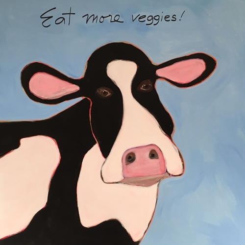 Brown eyed cow 48x48 by Tomaso DiTomaso
