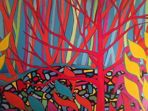 The Red Tree #2  36x48