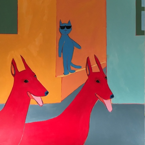 Cool Blue Alley Cat 48x48