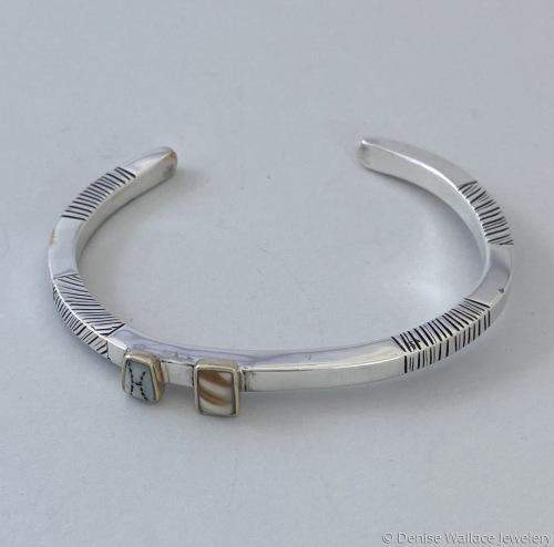 Woman's Bracelet with 2 bone inlays