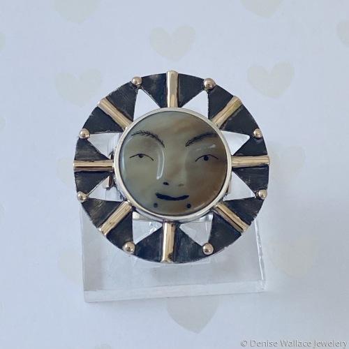 Sun Face Ring