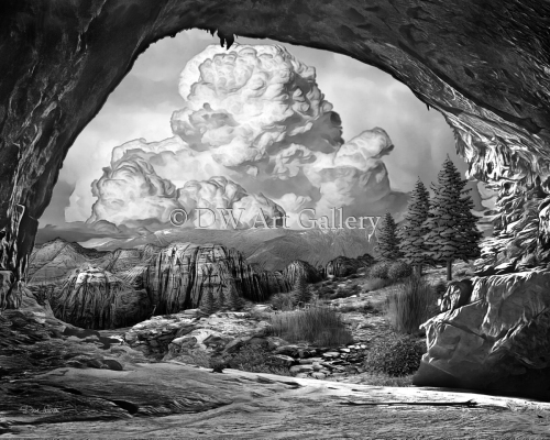 Peeking Out of the Cave by Dave Warren