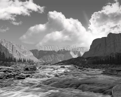 River Sunrise by Dave Warren