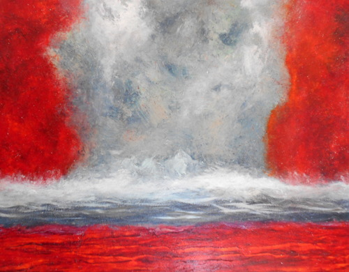 Crimson Tide 2-oil on canvas-47x58 in