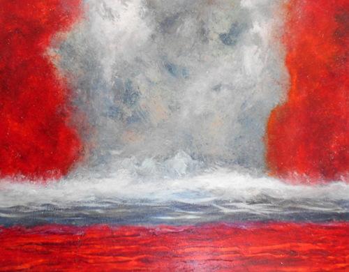 Crimson Tide 2-oil on canvas-47x58 in